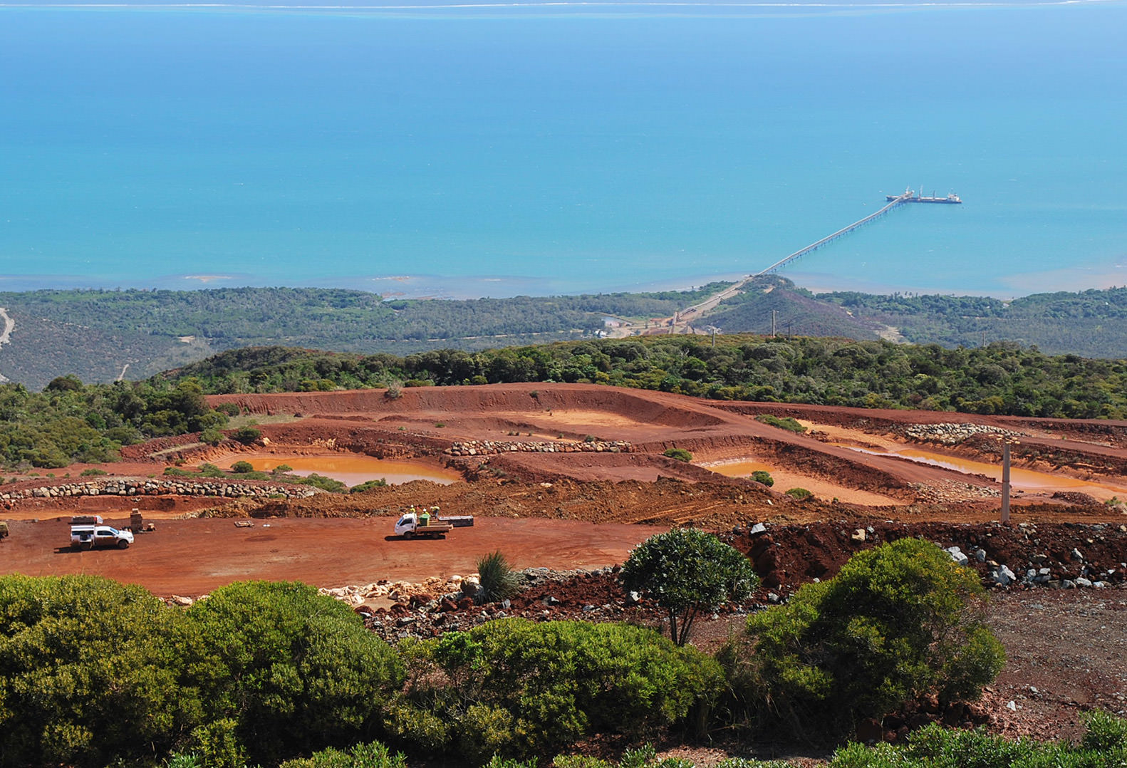 Open pit quarry in New Caledonia