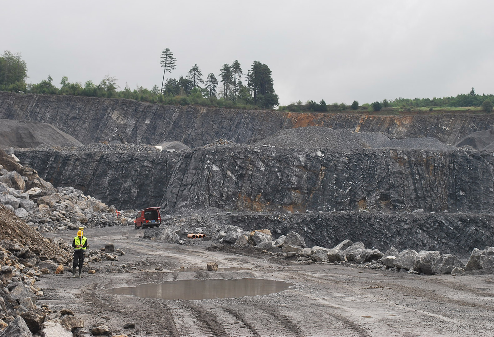 Open pit quarry in Belgium