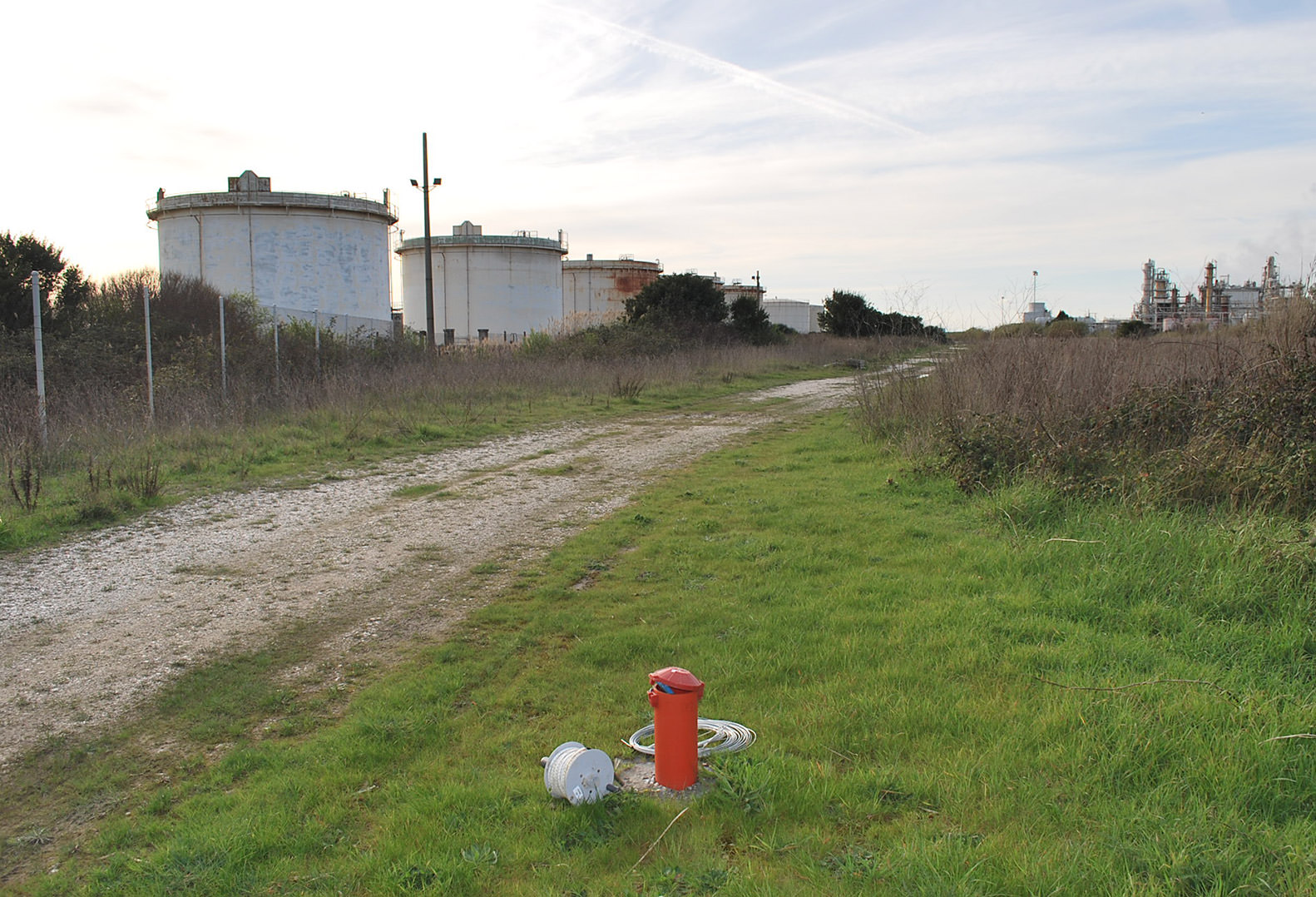 Control piezometers measuring underground water pressure of a commercial property in Italy