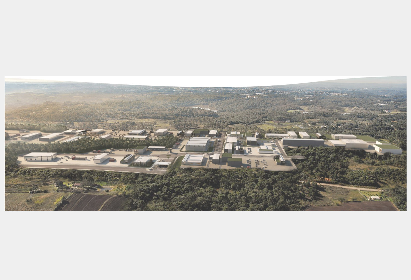 Drone view of the Greentec Sustainable Industrial Center