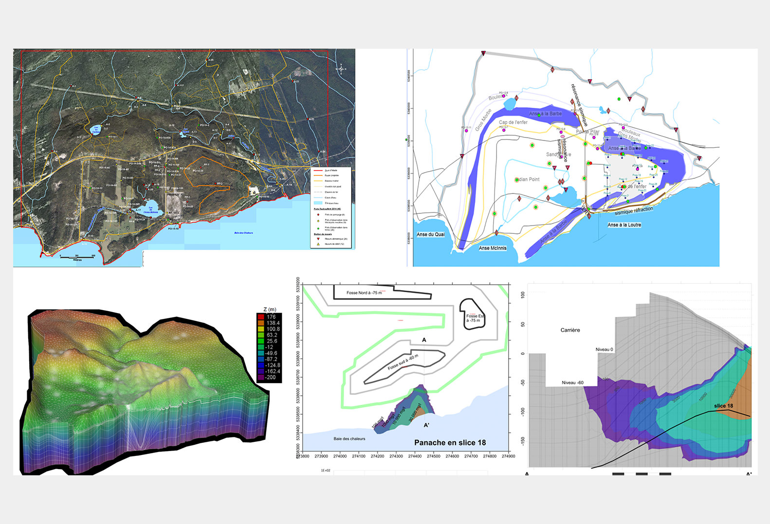 Five views of a Hydrogeological model for saline intrusion study